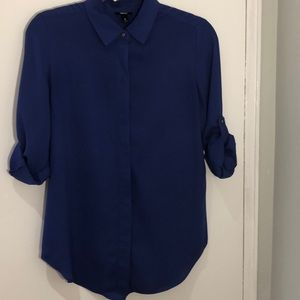 Blue Long Blouse